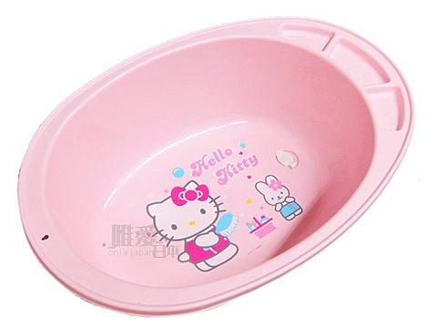 【真愛日本】7070600022嬰幼兒浴盆-粉 三麗鷗 Hello Kitty 凱蒂貓 嬰兒用品 衛浴 正品 限量 預購