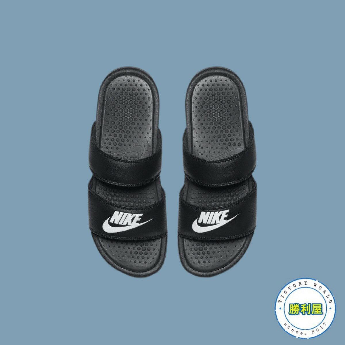 【領券最高折$350】【NIKE】NIKE NSW BENASSI ULTRA 女生 拖鞋 涼鞋 黑白 / 白銀 熱銷款 819717-010 819717-100【勝利屋】
