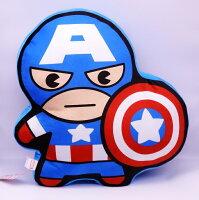 美國隊長周邊商品推薦【UNIPRO】Marvel 美國隊長 Captain America Q版造型 抱枕 靠背枕 美國隊長3 英雄內戰 漫威正版授權