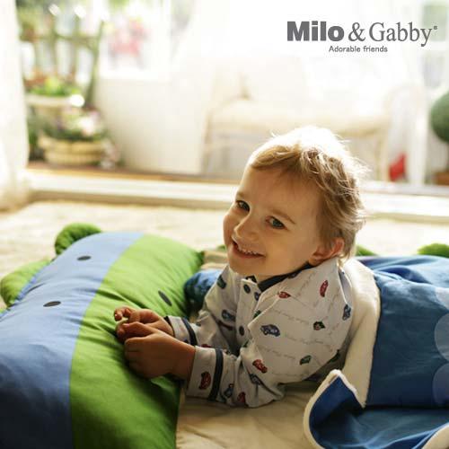美國 Milo & Gabby 動物好朋友-三合一超柔軟四季睡袋/兒童睡袋-DYLAN恐龍
