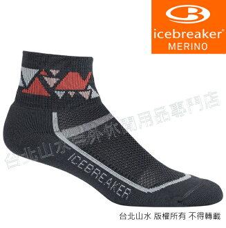 Icebreaker 短筒薄毛圈多功能運動襪/羊毛襪/排汗襪/低筒襪/美麗諾羊毛 女款IB101486 001 深灰