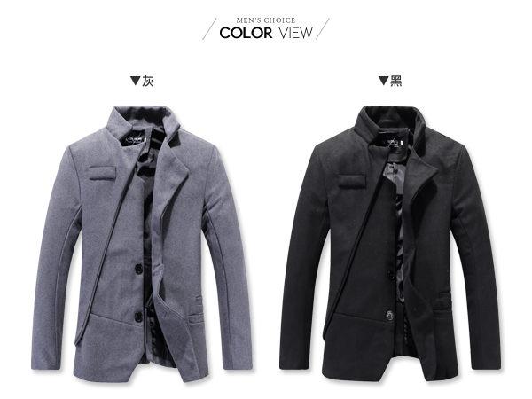 ☆BOY-2☆【NZ78017】韓版不對襯設計剪裁西裝外套 現+預 1