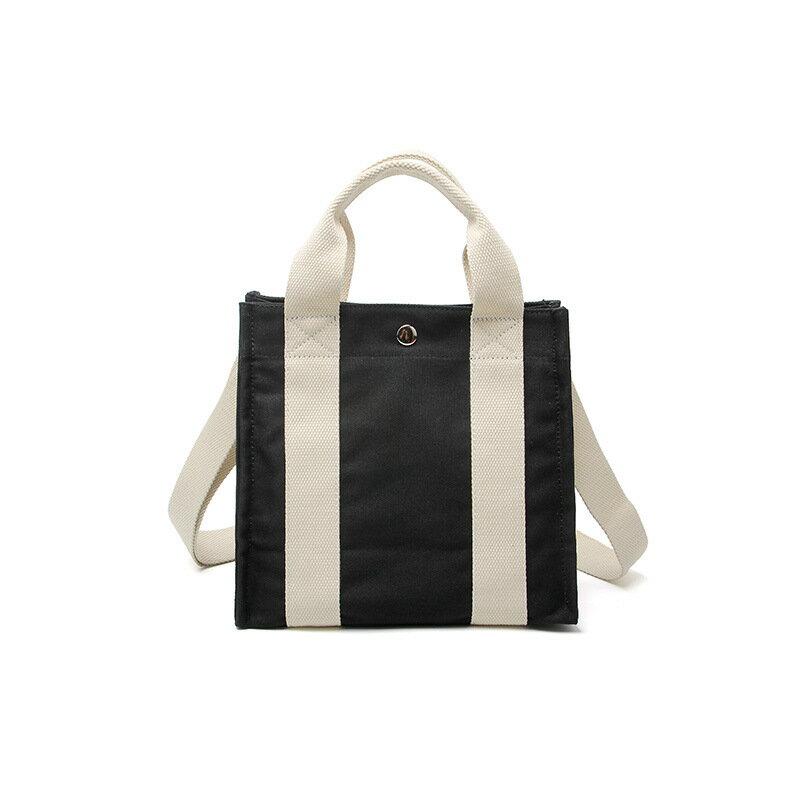 手提包帆布側背包-休閒百搭簡約學院風女包包4色73xb13【獨家進口】【米蘭精品】