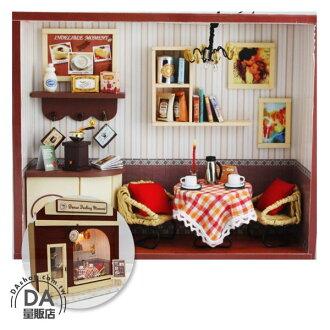 《DA量販店》DIY 手作 歐式 咖啡廳 櫥窗 佈置 迷你 袖珍屋 娃娃屋 模型屋(79-1406)