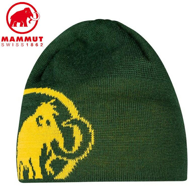 Mammut 長毛象 毛帽/登山保暖帽/滑雪帽 Tweak Beanie 1191-01352 40157 綠樹林/黃鳶尾