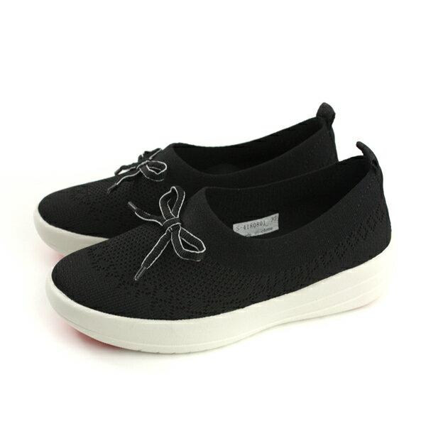 HUMANPEACE懶人鞋厚底針織黑色女鞋S4180801no010