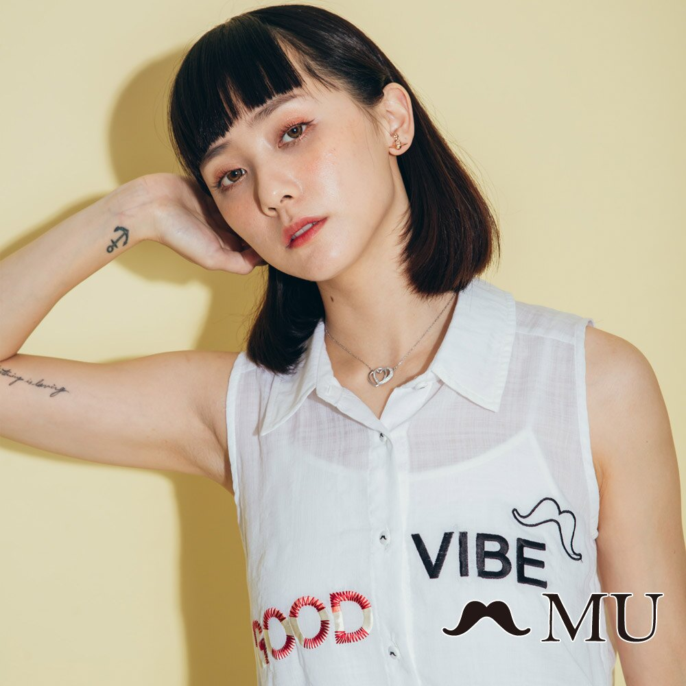 【MU】good vibe刺繡氣質無袖上衣 8323165 5
