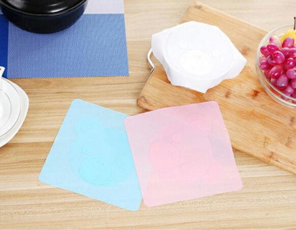 【省錢博士】可愛卡通多功能矽膠保鮮膜蓋 / 冰箱保鮮碗透明密封蓋