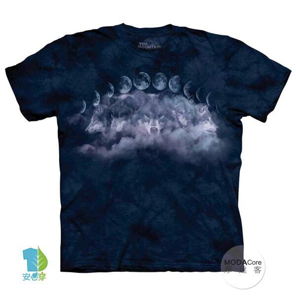 【摩達客】(預購)美國進口TheMountain月狼環純棉環保藝術中性短袖T恤