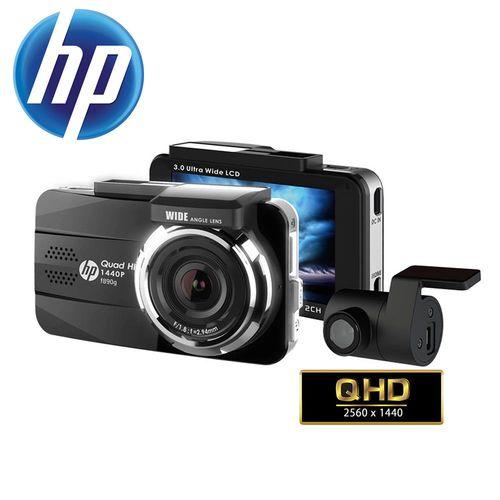 預購 HP惠普 F890G 前後雙鏡頭GPS測速提示1440P高畫質行車記錄器