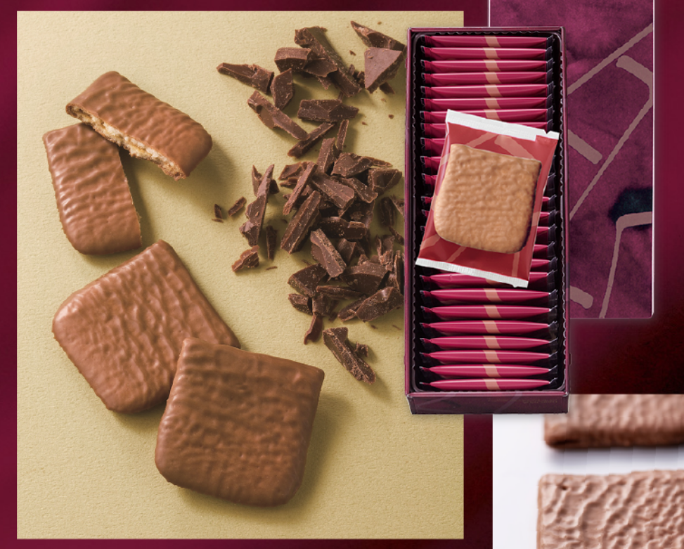 Ariel Wish日本秋冬限定版YOKU MOKU法式雪茄蛋捲紫紅色巧克力法式薄餅喜餅白色戀人餅乾喜餅禮盒24入-現貨