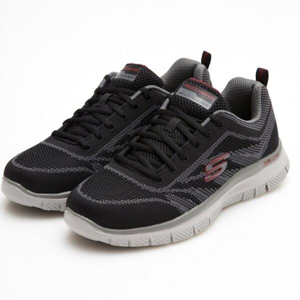 SKECHERSFLEXADVANTAGE1.0男鞋慢跑休閒網布記憶鞋墊耐磨透氣黑【運動世界】58354BKCC