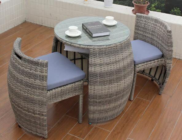 籐椅三件套 室外陽台小桌椅組合網紅籐椅三件套簡約戶外桌椅陽台休閒桌椅庭院 夢藝家