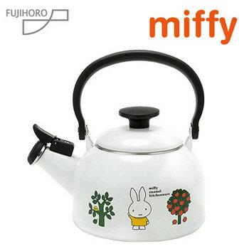富士琺瑯/ Miffy米菲兔系列-琺瑯笛音壺