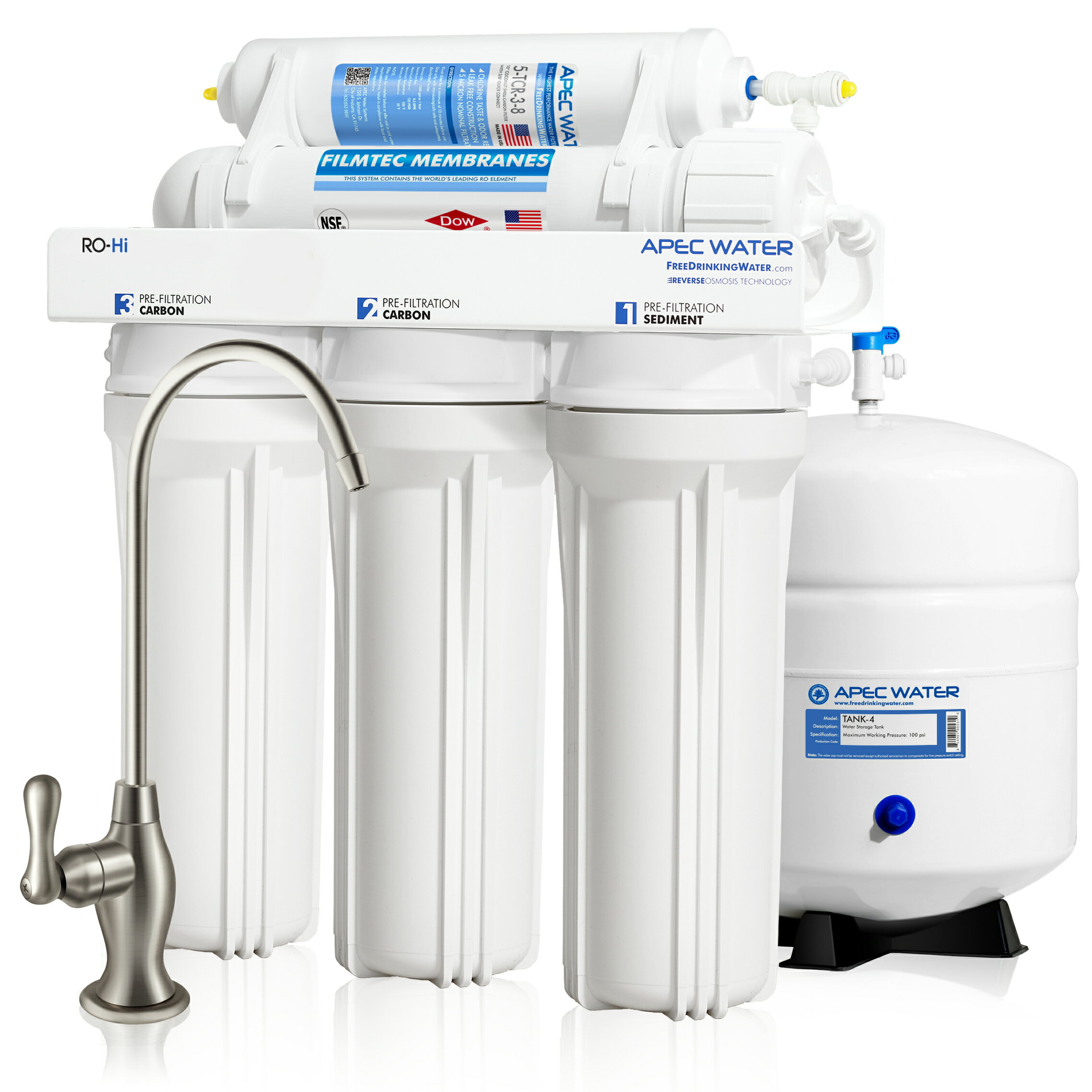 c82c1a87401 APEC Top Tier Supreme High Output Fast Flow Ultra Safe Reverse Osmosis  Drinking Water Filter System