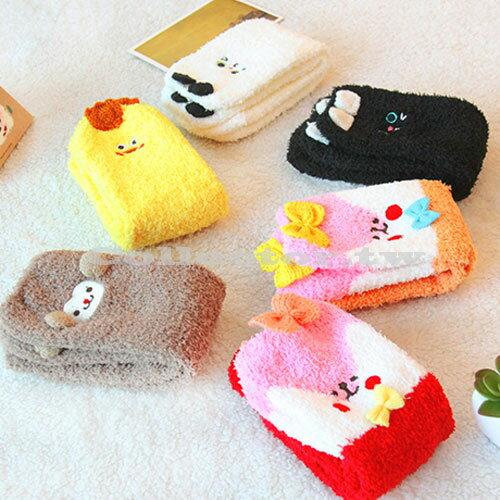 【M16011601】立體卡通動物造型珊瑚絨防滑地板襪 冬季加厚毛巾襪 保暖睡眠襪