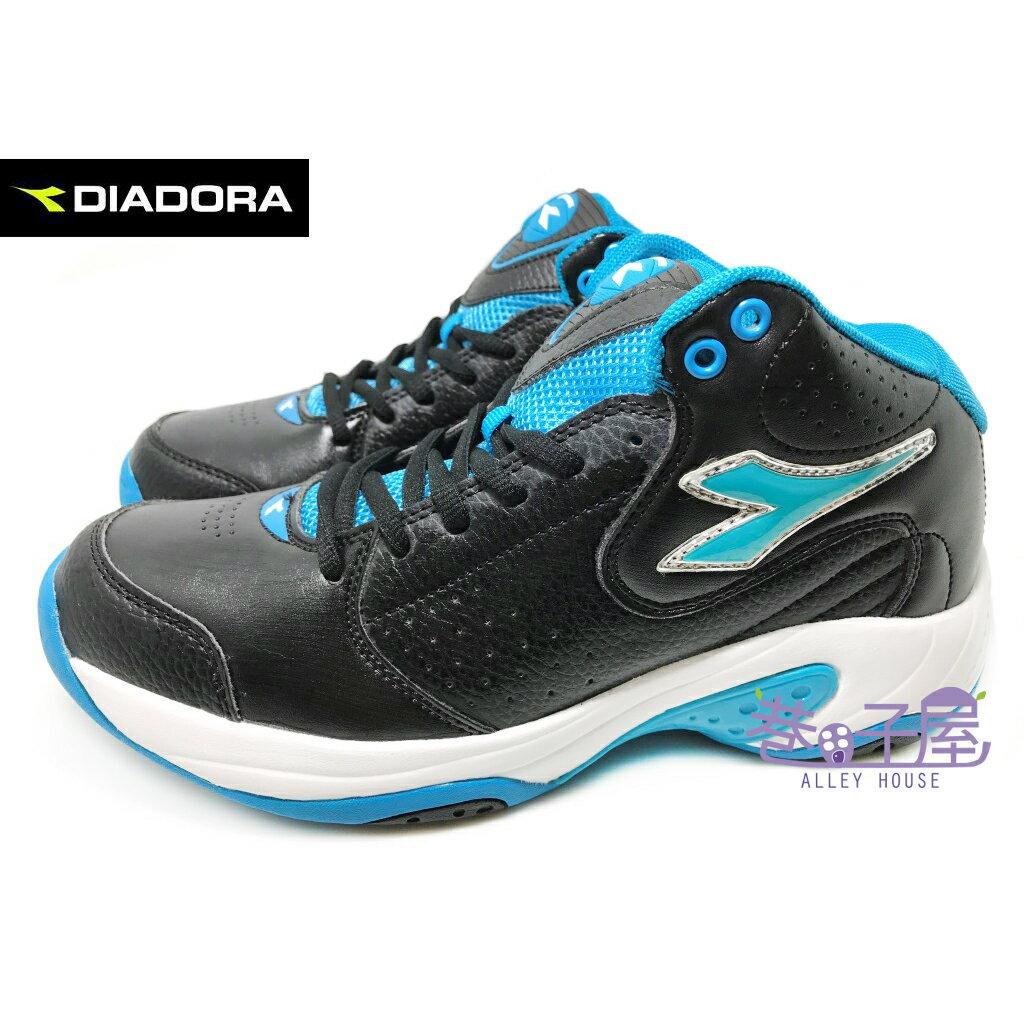 【巷子屋】義大利國寶鞋-DIADORA迪亞多納 男款亞洲寬楦高統籃球鞋 [7356] 黑藍 超值價$690
