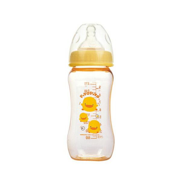 『121婦嬰用品館』黃色小鴨 寬口PES葫蘆奶瓶270ml 0