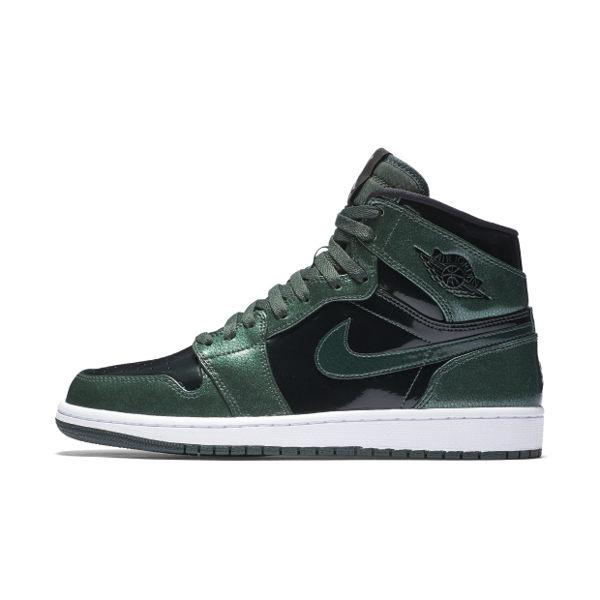 Nike Air Jordan 1 Retro High 喬丹 男鞋 籃球鞋 綠 黑 亮皮 【運動世界】 332550-300