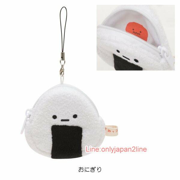 【真愛日本】17040600017 造型拉鍊零錢包S-SG章魚香腸便當 SAN-X 角落生物 角落公仔 療癒錢包吊飾