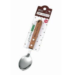 大賀屋 Hello Kitty 不鏽鋼 湯匙 天然 木把手 餐具 三麗鷗  KT 凱蒂貓 日貨 正版 授權 J00013144