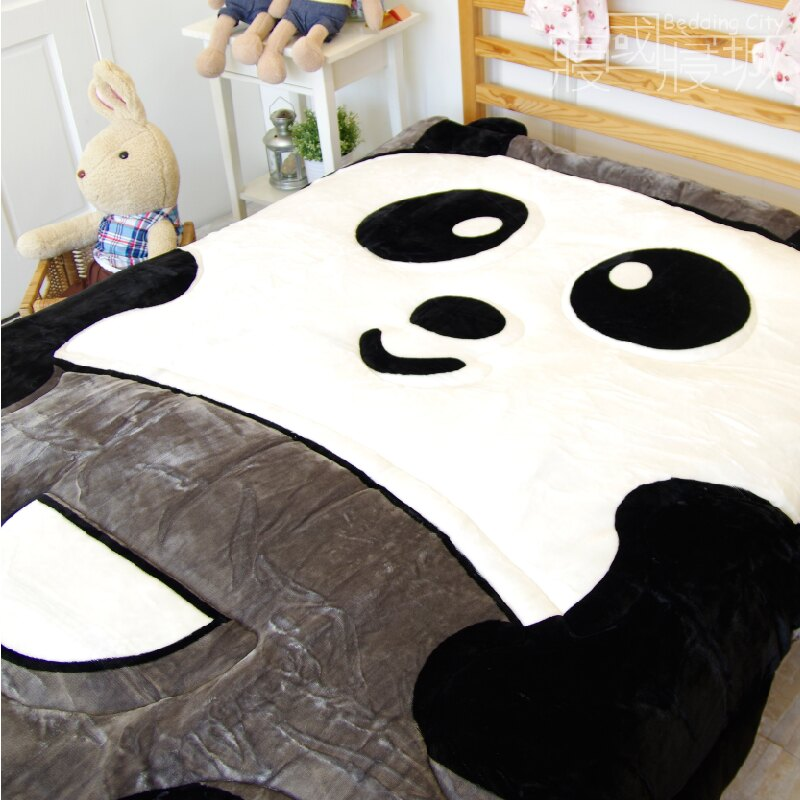 動物造型法蘭絨被毯-竹の熊貓【細緻柔順、極暖、可當棉被使用 】#法蘭絨 #寢國寢城 5