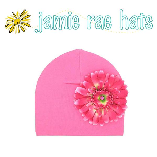 Woolala:★啦啦看世界★JamieRaeHats糖果粉紅雛菊棉帽CandyPinkCottonHatwithCandyPinkDaisy