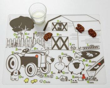 ★啦啦看世界★ Modern Twist 抗菌兒童繪畫餐墊- 農場/ 生日禮物 餐桌 餐具 學習 外出 彌月禮 滿月