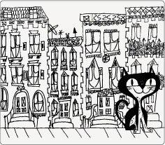 ★啦啦看世界★ Modern Twist 抗菌兒童餐墊- 城市貓咪/ 生日禮物 餐桌 餐具 學習 外出 彌月禮 滿月