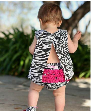 ★啦啦看世界★ Rufflebutts 斑馬紋搖擺衣 Zebra Print Swing Top/ 嬰兒 上衣 彌月禮 出生