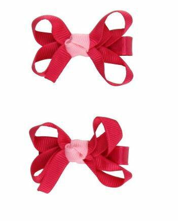 ★啦啦看世界★ Rufflebutts 手工桃紅粉小蝴蝶結/ 嬰兒 髮飾 彌月禮 出生 飾品 髮帶 髮夾 配件