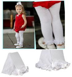 ★啦啦看世界★ Rufflebutts 白色內搭褲  / Leggings 褲襪 嬰兒 褲子 彌月禮 出生