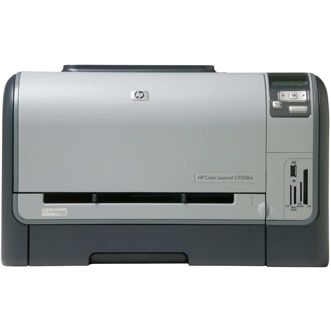 HP LaserJet CP1510 CP1518NI Laser Printer - Color - 600 x 600 dpi Print - Plain Paper Print - Desktop - 12 ppm Mono / 8 ppm Color Print - A4, A5, A6, B5 (JIS), B5, Custom Size - 151 sheets Standard Input Capacity - 30000 Duty Cycle - Manual Duplex Print - 0