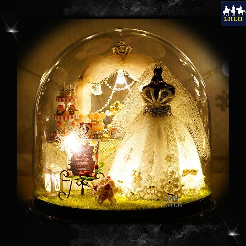 療癒 袖珍娃娃屋 生日禮物 DIY 透明罩音樂盒 【現貨】 愛是永恆