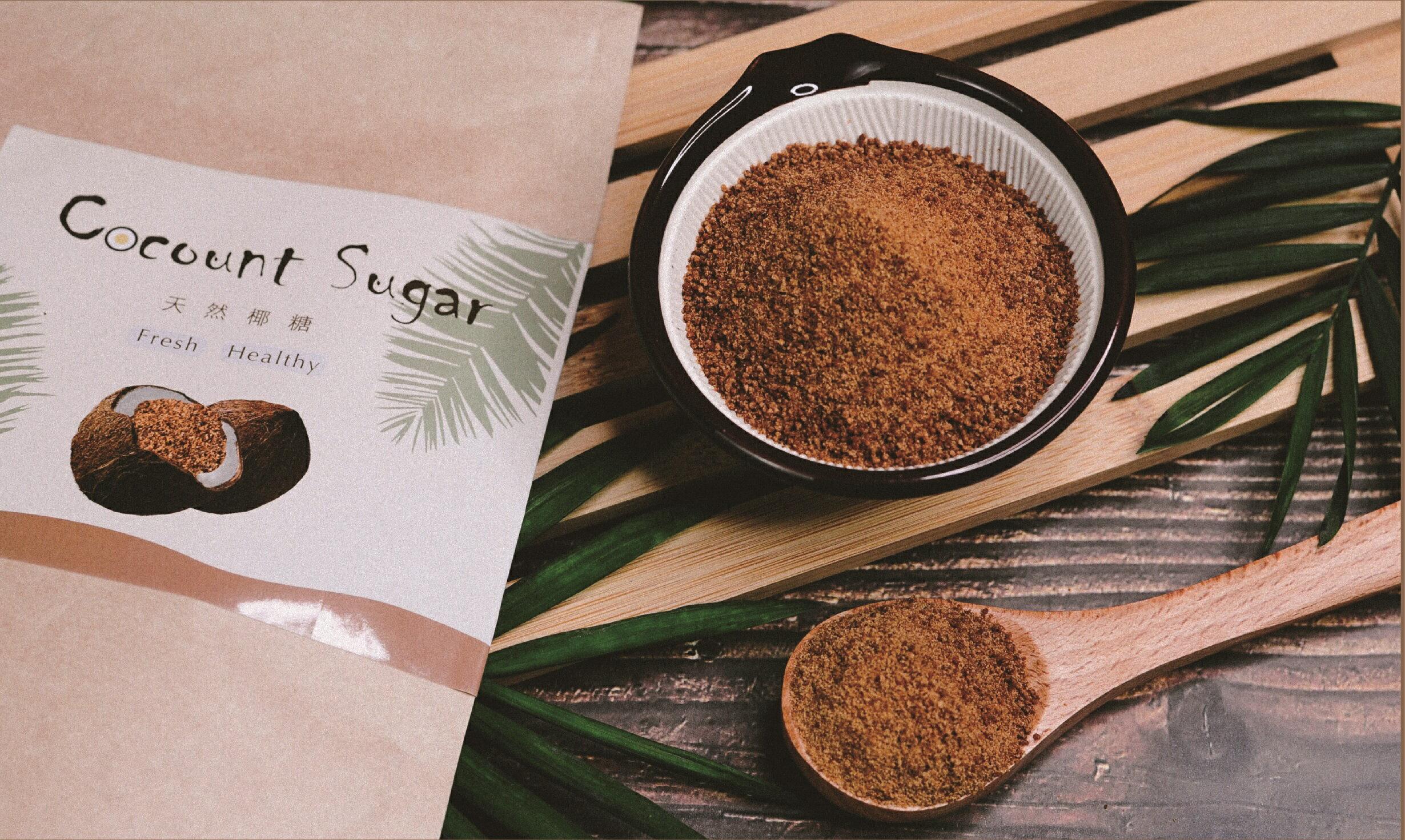 椰皇 純正椰子花蜜糖 椰糖 200g買1送1 共2包 1