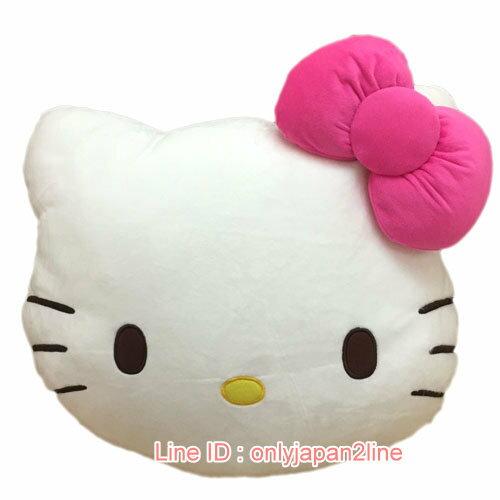 【真愛日本】17012300021超大頭型暖手枕-KT花布屁屁  三麗鷗 Hello Kitty 凱蒂貓  暖手枕 靠枕 抱枕