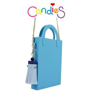 【Candies】托特流蘇迷你包(藍)-附金鍊