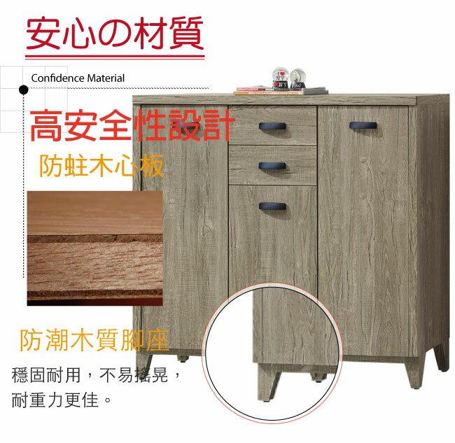【綠家居】蒂諾斯 時尚4尺二抽三門鞋櫃/玄關櫃