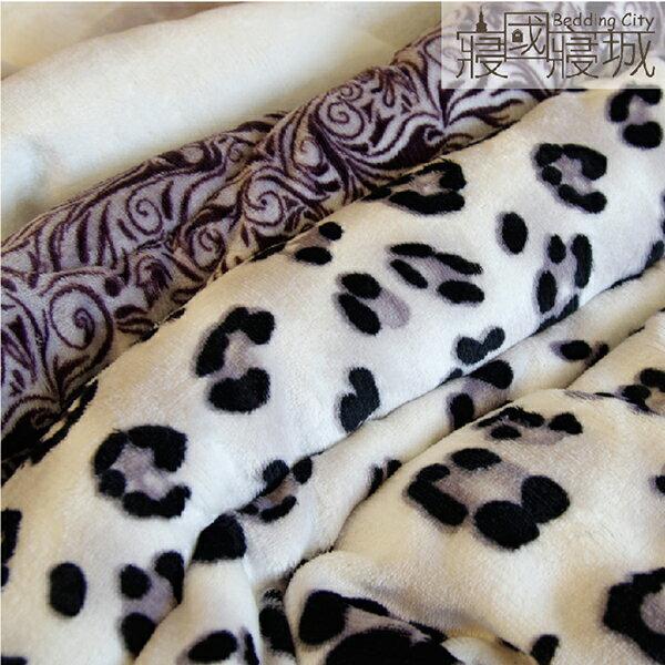 法蘭羊羔絨暖暖被毯-紫醉迷情【華麗豹紋、極暖、可當棉被使用 】#內充棉 #寢國寢城 5