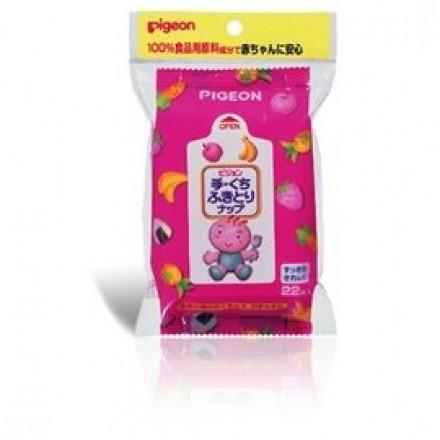 貝親 PIGEON -手口專用濕紙巾-22抽