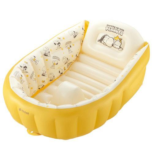 【領券現折100★折扣後$1299】日本RichellSNOOPY充氣式嬰兒浴盆*夏日微風*