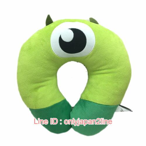 【真愛日本】17012600002造型頸枕-大眼怪  迪士尼 怪獸電力公司 怪獸大學 頸枕 枕頭 靠枕 居家用品