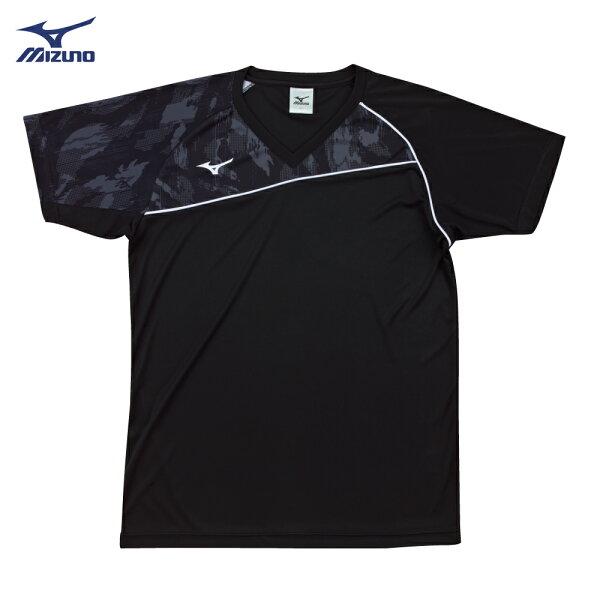 V2TA7G1809(黑X黑灰)男女通款吸汗快乾、SlimFIT合身版型排球上衣(【美津濃MIZUNO】