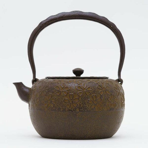 日本鑄鐵壺南部鐵器-【佐藤勝久廣口丸型櫻1.5L】鐵壺鉄瓶煮水泡茶