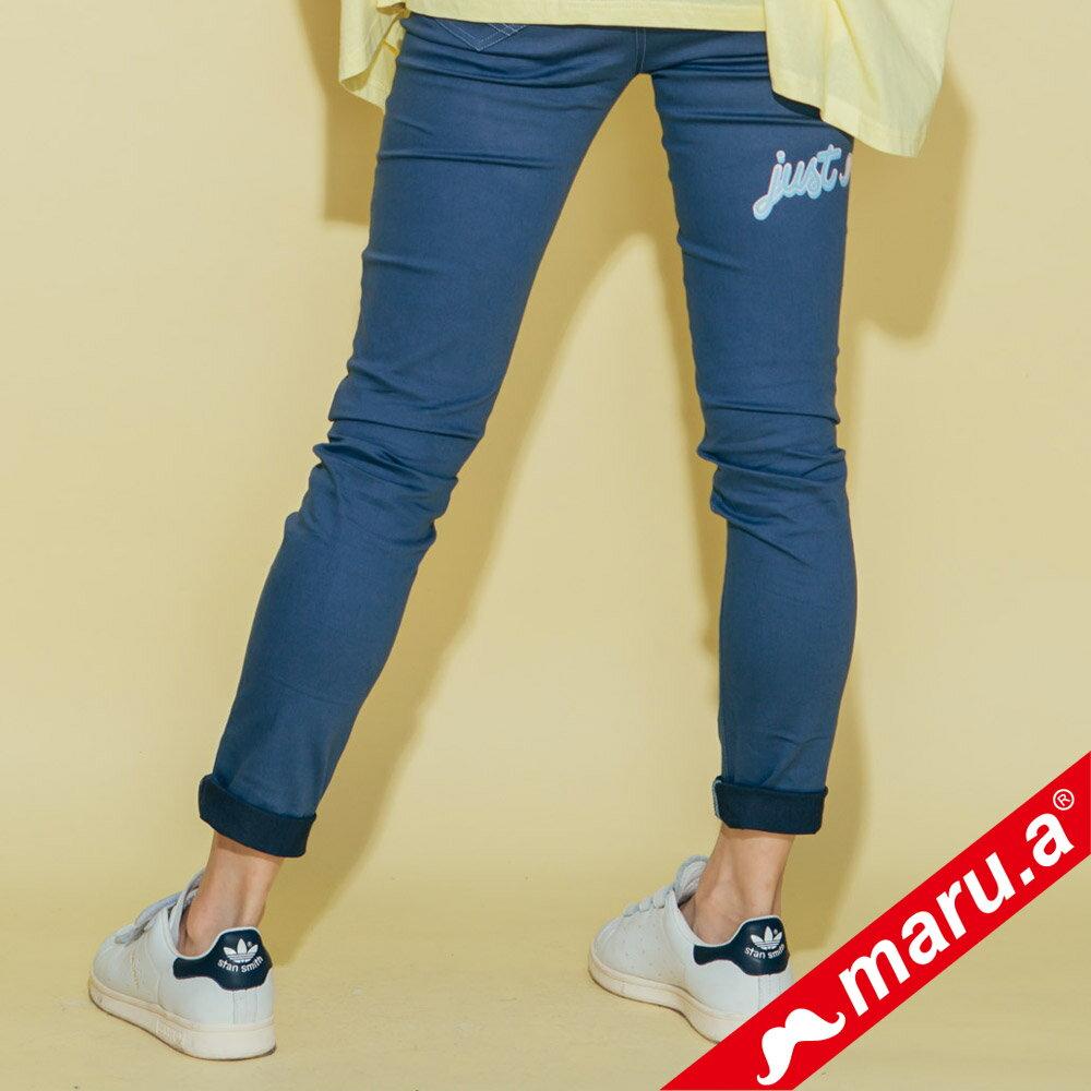 【maru.a】彈性貼腿後印花內搭褲(3色)8325311 5