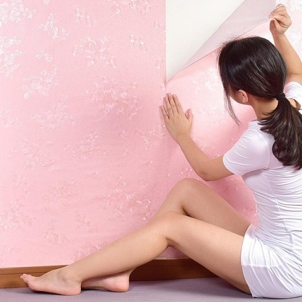 壁貼少女房間裝飾墻紙ins貼紙溫馨粉色墻貼防水自粘宿舍臥室清新壁紙『清涼一夏鉅惠』 1