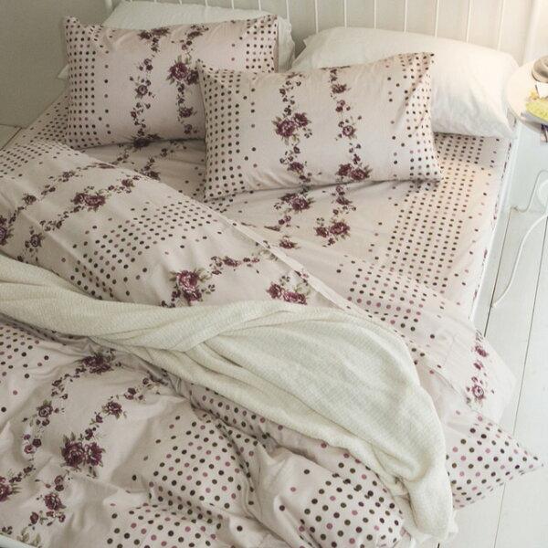 絲薇諾精品寢飾館:床包薄被套組雙人【玫瑰花頌】含兩件枕套四件組,精梳棉台灣製絲薇諾