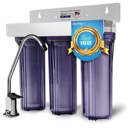 """iSpring 3-Stage 10"""" Whole House Water Filter #WCC31 98f8384b0f5feb308fabddba1be4e6c9"""