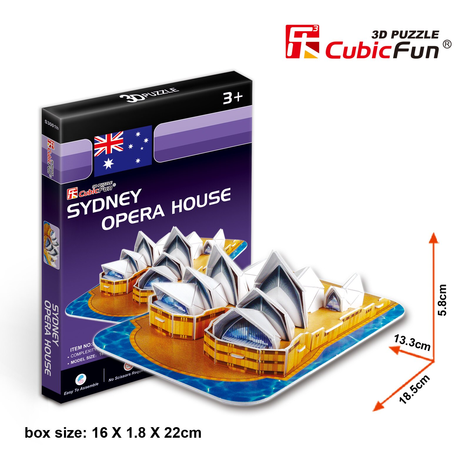 【兒童節禮物】3D Puzzle 立體拼圖 - 世界建築 【澳洲雪梨歌劇院】S3001 學童級 30片