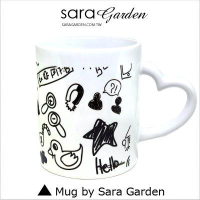 客製化 陶瓷 馬克杯 愛心 咖啡杯 塗鴉插畫【M0320028】